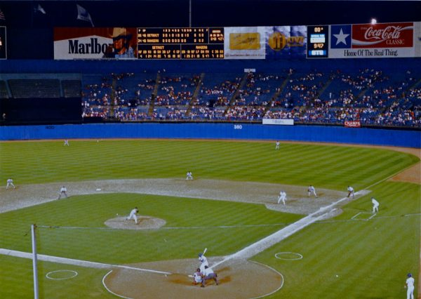 The old Arlington Stadium, home of the Texas Rangers from 1972 to 1993.