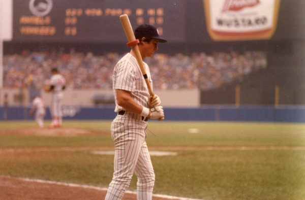 Bobby Murcer on deck at Yankee Stadium in 1979.