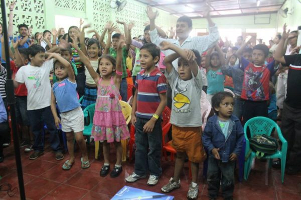 In 2013, hundreds of children pack into the Sacuanjoche Church of Christ in Masaya, Nicaragua. They attended a Vacation Bible School organized by a mission group from the Edmond Church of Christ in Oklahoma.
