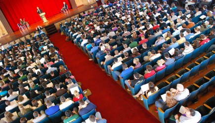 Students gather for daily chapel at Florida College