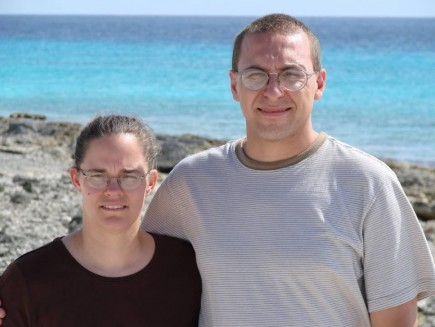 The Klamms stand on a beach on Bonaire during a recent survey trip. The couple and their three daughters have committed to five years of mission work on the Caribbean island in the Netherlands Antilles. – (photo submited)