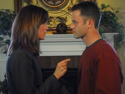 "Erin Bethea and Kirk Cameron star as a couple with a troubled marriage in ""Fireproof."""