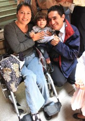 Yolanda Mena Tigse with her husband