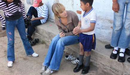 After distributing new school shoes in Tabacundo