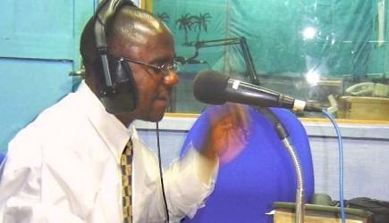 Morisho Mutupeke in on the air in Mombasa
