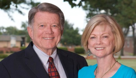 Lynn and Joy McMillon's 45 years of service to Oklahoma Christian University was recognized with a $1.5 million endowment gift. – PHOTO PROVIDED BY OKLAHOMA CHRISTIAN