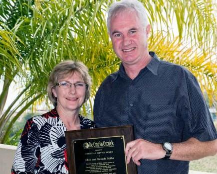 Melinda and Chris Miller received the Christian Service Award at Pepperdine University in Malibu