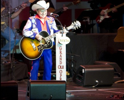 Little Jimmy Dickens performs at Allen Arena at Lipscomb University in Nashville