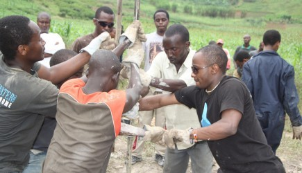 Oklahoma Christian students drill wells in RwandaOklahoma Christian University students drill wells in Rwanda. – PHOTO BY L.J. LITTLEJOHN