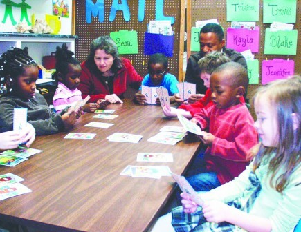 Melinda Good and Barrion Palmer teach the Sunday school for kindergartners at the Central Church of Christ in Huntsville