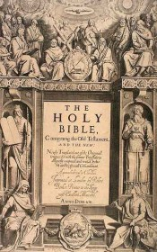 The title page of the first edition of the King James Bible