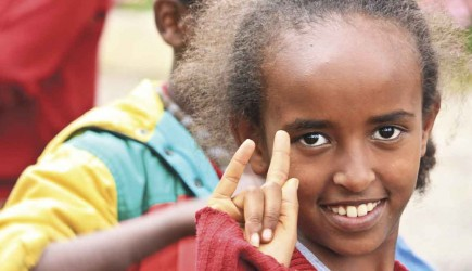 A student at Makanisa School for the Deaf in Addis Ababa