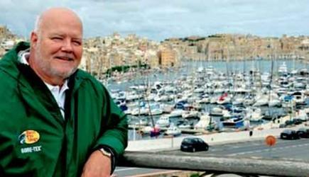 John Harkins overlooks Mellieha Bay on the island of Malta. – PHOTO PROVIDED