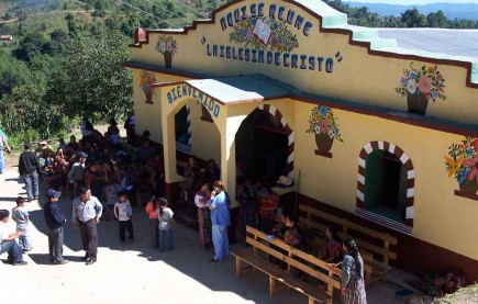 A medical mission team visits the meeting place of the Church of Christ in the remote village of Maczul Sexto
