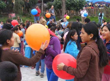 Some of the 900 residents of the Community of Children in La Ventanilla