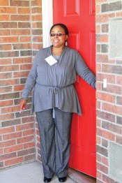Senoil Holmes shows off her new home in Oklahoma City.