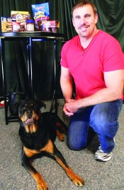 """Steve Holladay with his Rottweiler """"Baby Ruthâ€"""