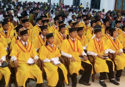 Students at World Bible College participate in a ministry graduation. – PHOTO PROVIDED