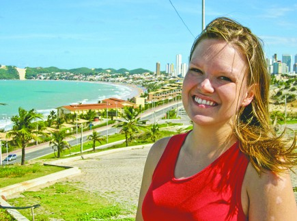 Cris Carpenter overlooks the city of Natal
