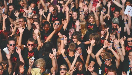 IGNITE - Campers show their enthusiasm during Soul Quest at York College in Nebraska. – PHOTO PROVIDED BY YORK COLLEGE
