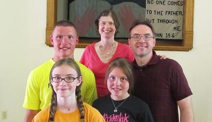 The Kashorek family at the Plattsburgh Church of Christ in New York. – PHOTO BY TERI MCAULIFFE
