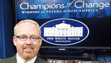 At the White House - Texas church elder Mike Hall. – PHOTO PROVIDED BY MIKE HALL