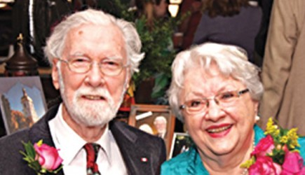 The Highland Church of Christ honored Joe and Betty Cannon in 2011 for their mission work. – Photo via FAITHINMEMPHIS.COM