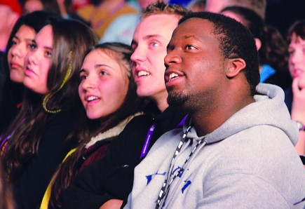 Young Christians worship at Winterfest in Gatlinburg
