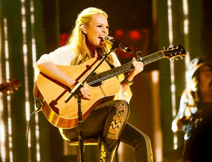 "Janelle Arthur performs ""You Keep Me Hangin' On"" by The Supremes. – Photo via AMERICANIDOL.COM"