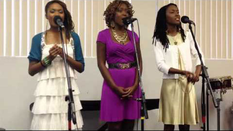 "The 3B4JHOY sisters sing ""It Is Well."""