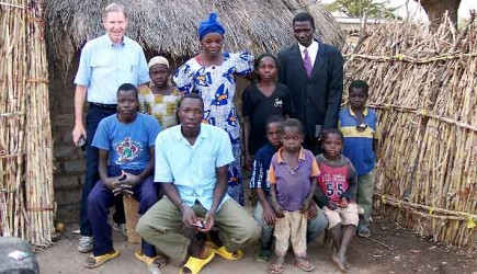 Doyle Kee with church members in Africa.