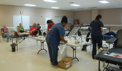 Blood drive encourages donors to give gift of life.