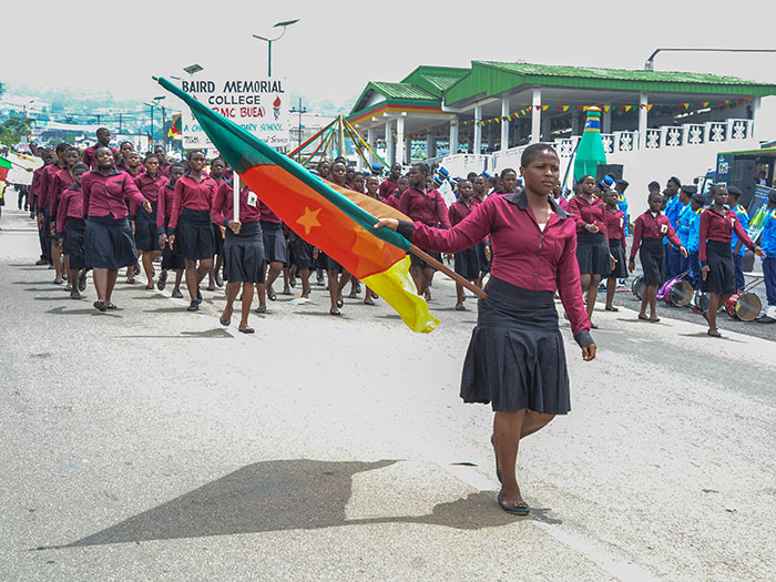 Students from Baird Memorial College in Buea