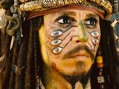 "Johnny Depp as Capt. Jack Sparrow in ""Pirates of the Caribbean: Dead Man's Chest"""