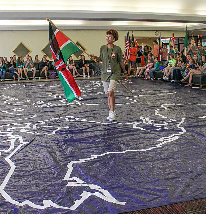 Flags from around the world — including Kenya — were part of the closing ceremony of the 2017 Global Reunion.