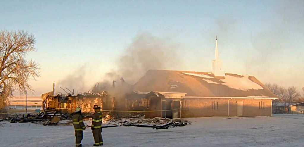 The meeting place of the Limon Church of Christ after a Dec. 7 fire.