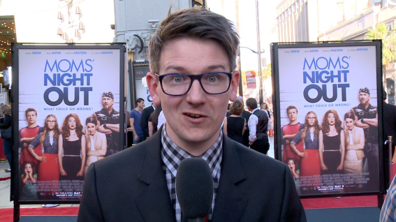 "Lucas Ross at the red carpet premiere of ""Moms' Night Out."""