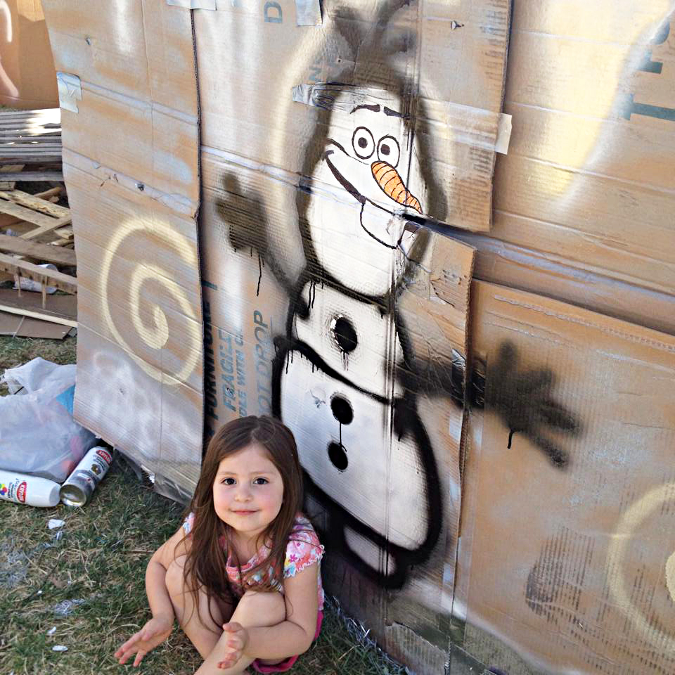 """Olaf the snowman from the Disney film """"Frozen"""" made an appearance at Shack-A-Thon"""