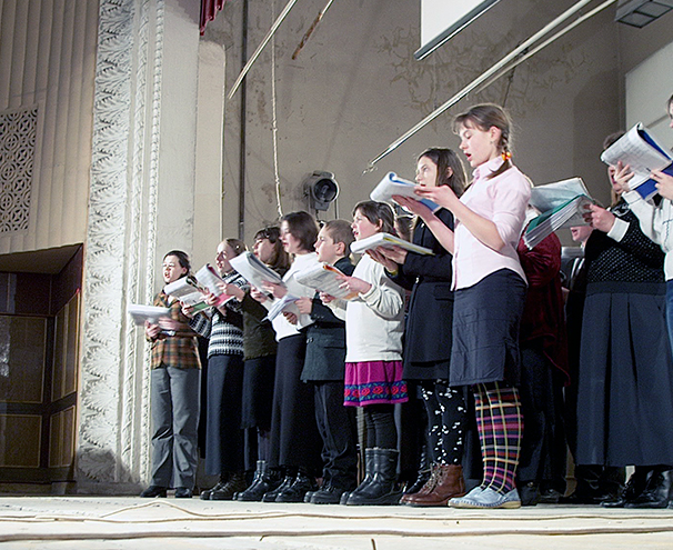 Youth from the Petrovsky Church of Christ in Donetsk