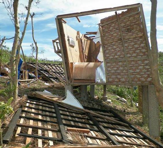 "The ""Canadian Hut"" at Arapal Christian Camp in the Philippines sustained heavy damage as Typhoon Yolanda battered the northern tip of the island of Cebu. A mission team from Saskatchewan built the hut"
