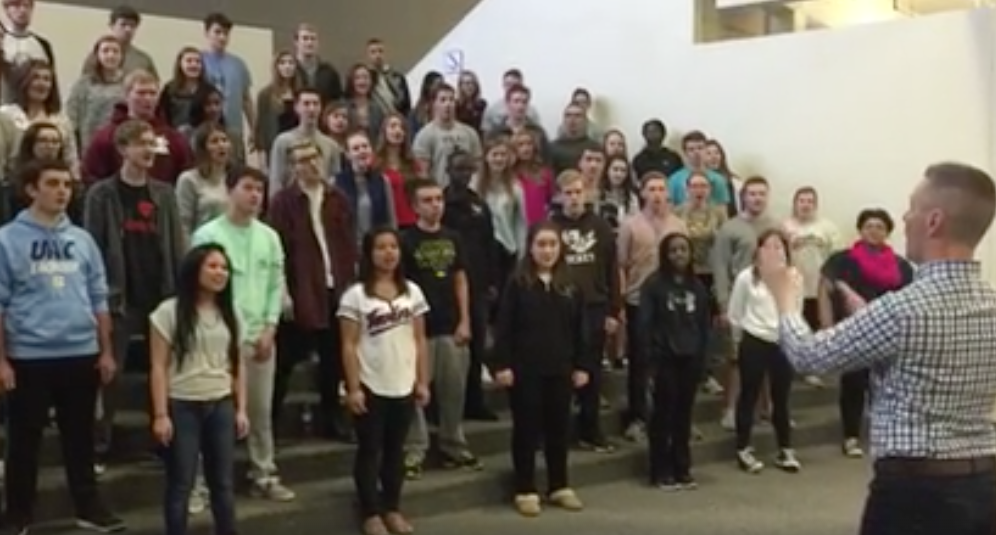 An Apple Valley High School choir