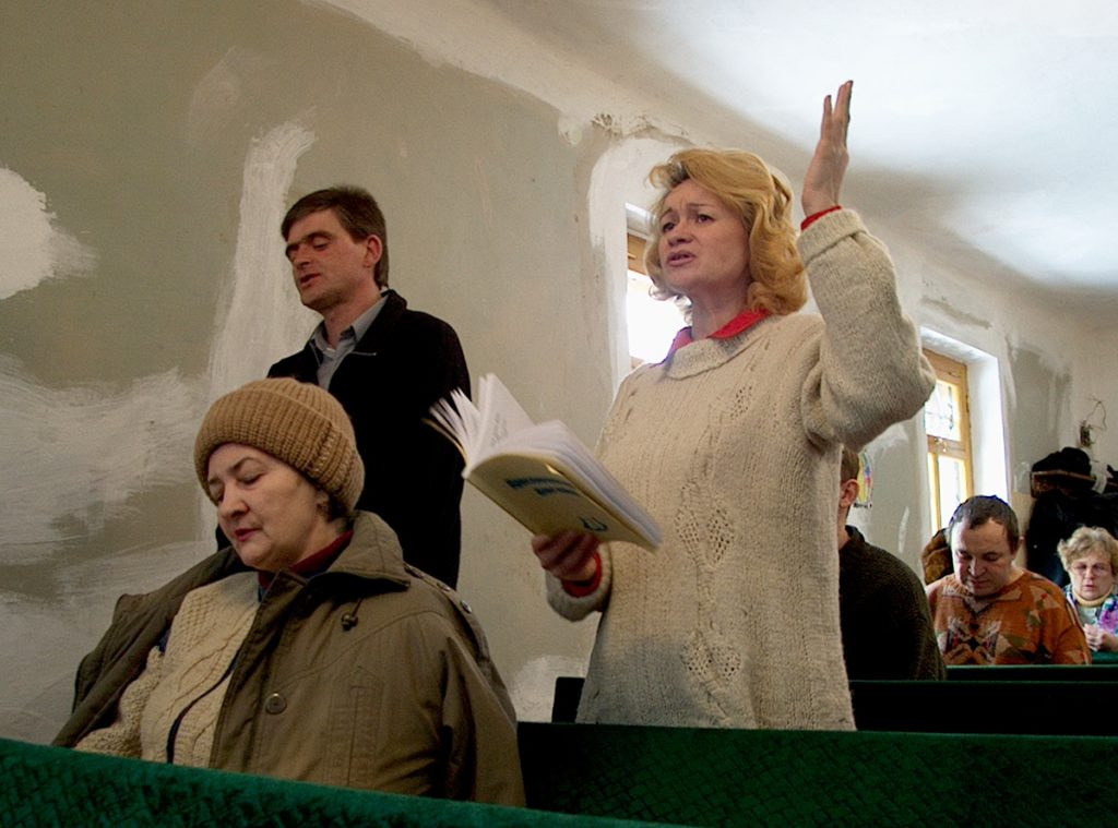 Members of the Church of Christ in the Kirovsky district of Donetsk