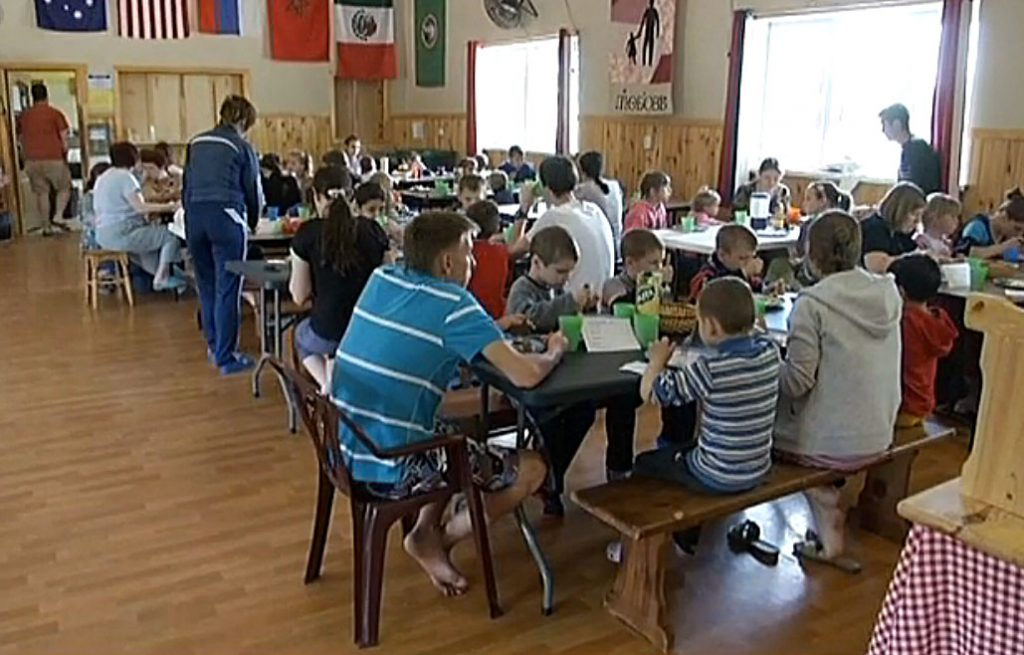 People fleeing the conflict in eastern Ukraine have taken refuge at Jeremiah's Hope