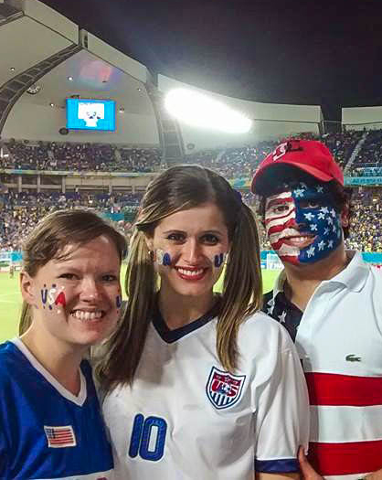 The World Cup gives former missionaries the chance to root for their adopted countries. It also gives a current missionary from the U.S. the chance to cheer — in person — for her home country. Cris Carpenter