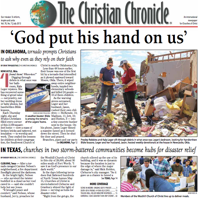 The front page of the July 2013 edition