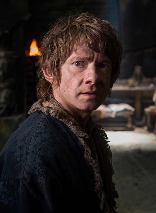 """Martin Freeman plays Bilbo Baggins in """"The Hobbit: The Battle of the Five Armies"""""""