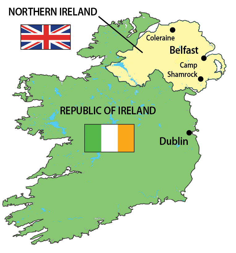Republic Of Ireland And Northern Ireland Map.Video Banishing The Devil And Witnessing The World S Worst Game