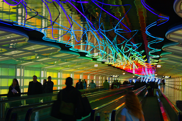 Chicago's O'Hare International Airport can be a maze of frustration