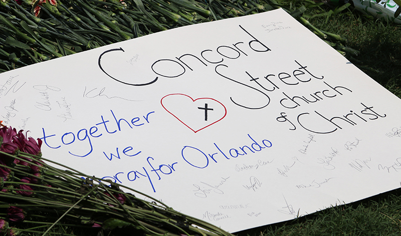 A poster of support for the Orlando