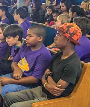 Children and teens attend the 18th annual San Diego Bible Bowl.